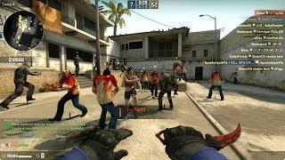 CS:GO - Zombie Survival Mod Gameplay on de_dust2 - GFL