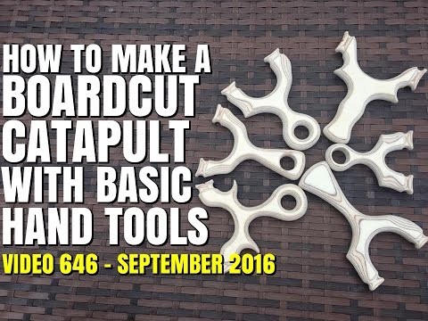 HOW TO MAKE A BOARD CUT CATAPULT / SLINGSHOT WITH SIMPLE TOOLS