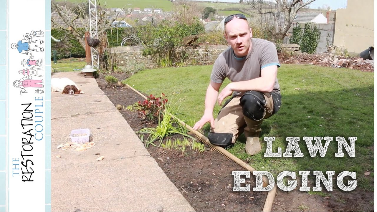 Making Lawn Edging And Flower Beds Trc Garden Youtube