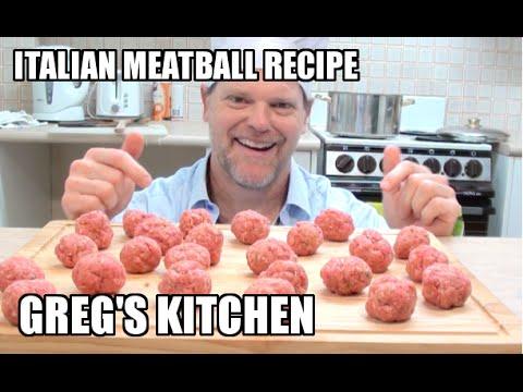 AUTHENTIC ITALIAN MEATBALLS RECIPE - Greg's Kitchen