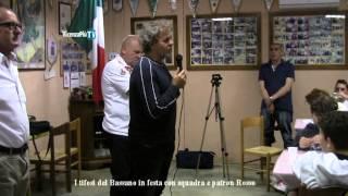 Patron Renzo Rosso festeggia con i tifosi del Bassano