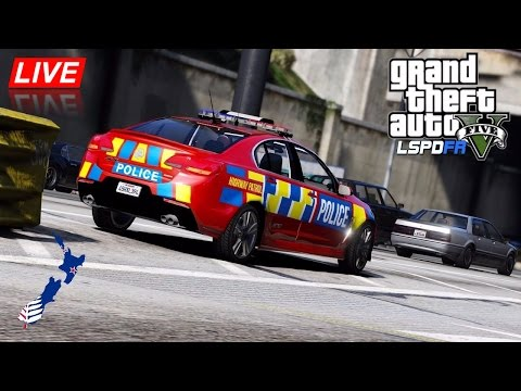 GTA 5 - LSPDFR New Zealand - City Motorway Patrol (Play GTA as a cop mod for PC)