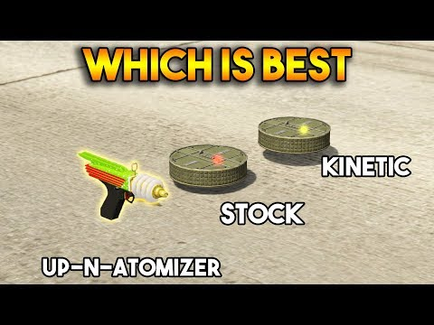 GTA 5 ONLINE : KINETIC MINE VS UP N ATOMIZER VS PROXIMITY MINE (WHICH IS BEST?)