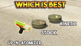 Zapętlaj GTA 5 ONLINE : KINETIC MINE VS UP N ATOMIZER VS PROXIMITY MINE (WHICH IS BEST?) | Onespot Gaming