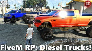 GTA FiveM RP: Part 1 - My NEW, Lifted Cummins! Diesel Trucks Cruise to The Swamp (Off-Road Trip)