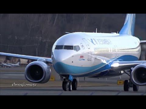 The 8,888th Boeing 737 XiamenAir Test Flight Arrival @ KBFI Boeing Field