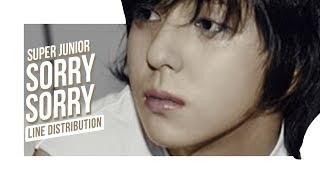 Super Junior ( 슈퍼주니어 )   Sorry Sorry (쏘리 쏘리) (line Distribution)