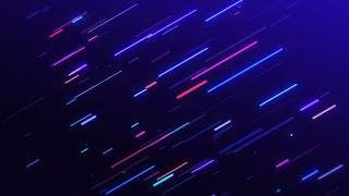 Rounded Neon Multicolored lines Background Looped Animation HD | Free Footage