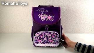 Школьный рюкзак Kite K17-701M-1. Каркасный ранец. Ортопедический детский рюкзак. Видео обзор