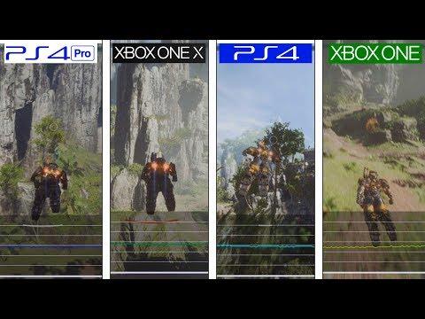 Anthem | Xbox One X vs PS4 Pro vs PS4 vs ONE | Framerate Test Demo