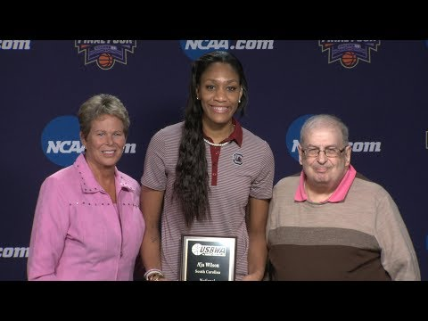 A'ja Wilson USBWA Player of the Year News Conference — 3/30/18