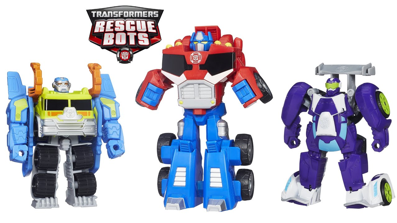 Transformers Rescue Bots Toys Optimus Prime Salvage And Blurr Youtube