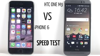 HTC One M9 vs iPhone 6 - Speed Test (Detailed!)