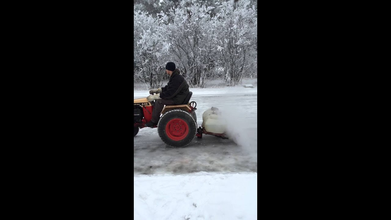Homemade zamboni - YouTube