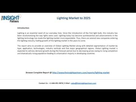 The Insight Partners Releases New Report on Lighting Market 2016-2025