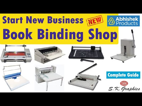 Start New Book Binding Business [Different Machines For Various Markets] | ABHISHEK PRODUCTS