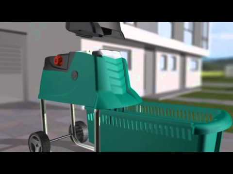 bosch axt 23 tc 2300 w electric shredder doovi. Black Bedroom Furniture Sets. Home Design Ideas