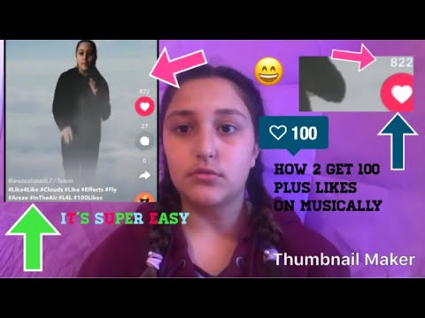 HOW TO GET 100 LIKES ON MUSICALLY 2018 -Arezo Ahmadi | Fun & more w/ A !