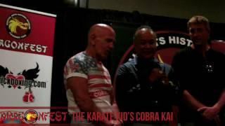 The Karate Kid's Cobra Kai Cast at DragonFest 2016