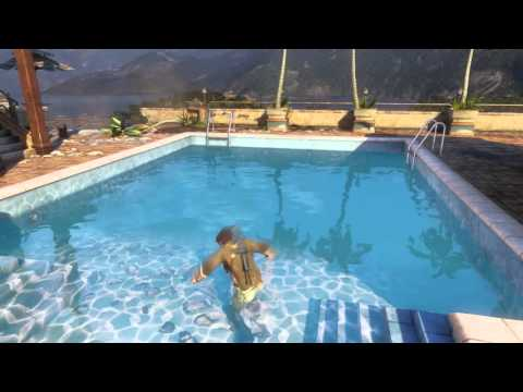 Uncharted Collection Among Thieves Chap 6 Nate Hotel Pool Swim Marco Polo Fish Outta Water