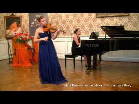 "Zagan LAM 2014 G. Tartini Sonata ""z trylem diabelskim"",  Celina Kotz -skrzypce"
