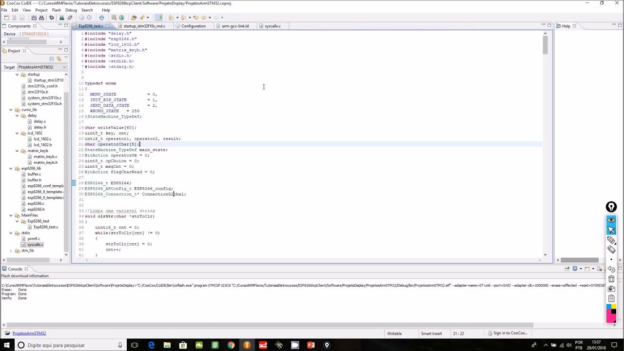ESP8266 e STM32 - TCPclient a partir de comandos AT