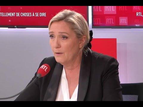 Marine Le Pen était l'invitée de RTL
