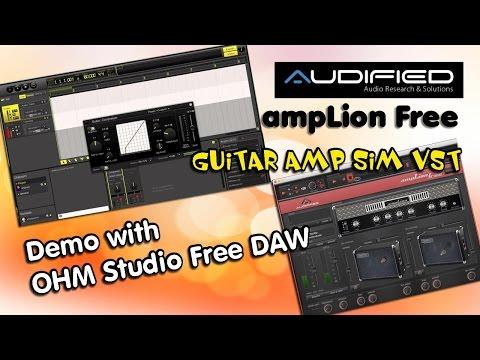 Audified ampLion Free VST Guitar Amp Sim, Demo with OHM Studio Free