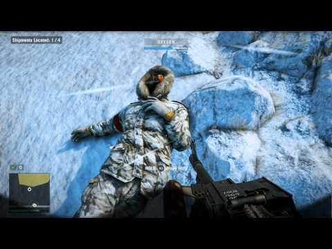 Far Cry 4 - Sermon on the Mount: Himalayas Intro, Oxygen Mask & Object Tracker (Locate Shipments)
