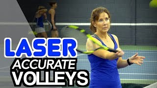 How to hit LASER accurate volleys - tennis lesson