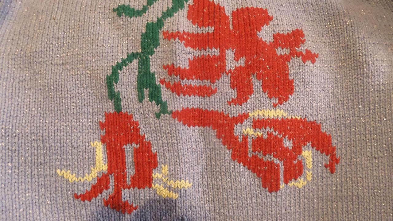 схемы для вышивки по петлям на вязаных детских изделиях