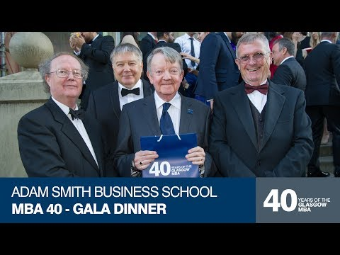Adam Smith Business School MBA 40 – Gala Dinner