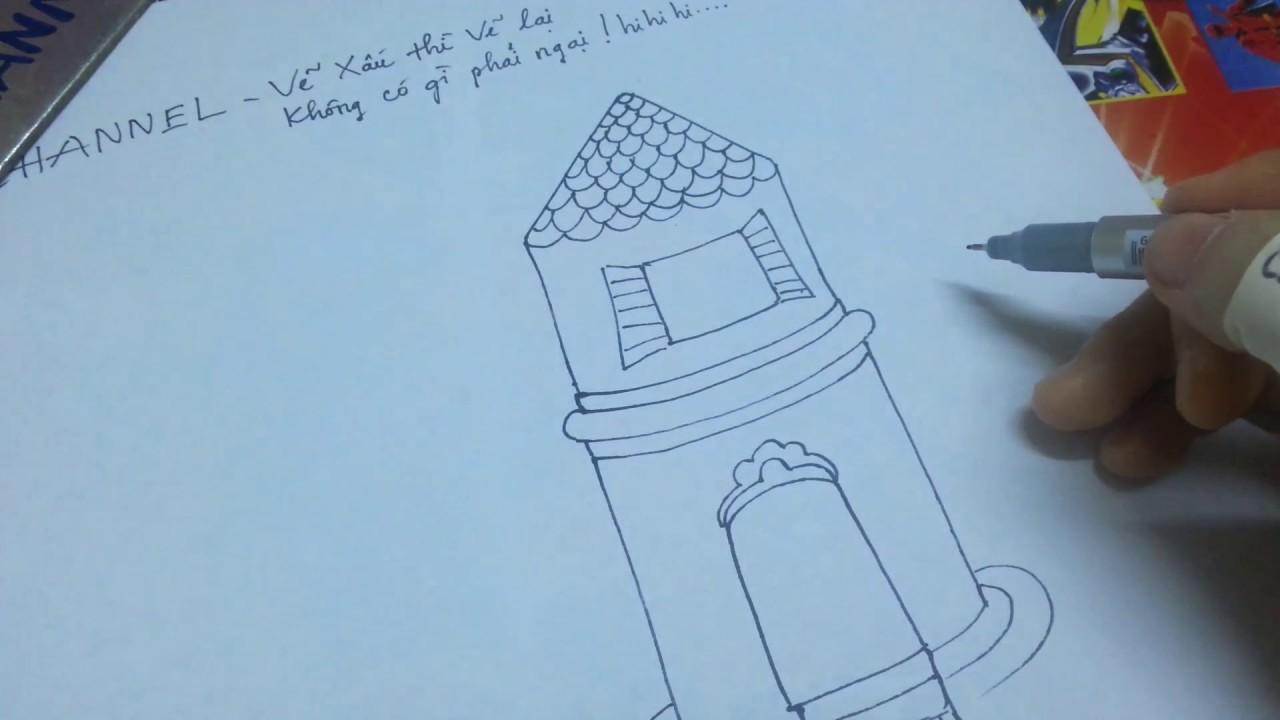 Draw channel/Dạy bé vẽ Ngôi Nhà Mơ Ước/ Draw my dream