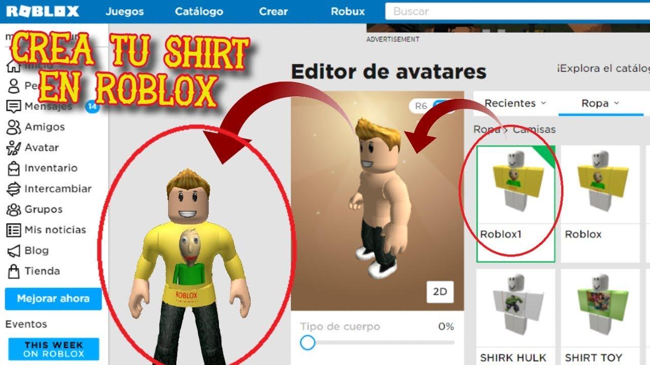 Como crear ropa en roblox 2020 | Como hacer ropa en roblox | Ropa gratis en  roblox - YouTube