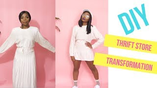 HOW TO MAKE NEW CLOTHES FROM OLD CLOTHES   Thrift Store Transformation DIY