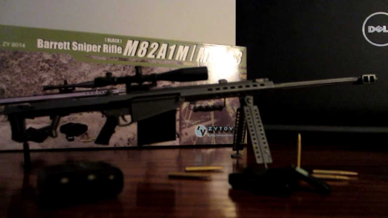 """ZYTOYS 1//6 Scale M82A1 Sniping Rifle Desert Model for 12/"""" Action Figure"""