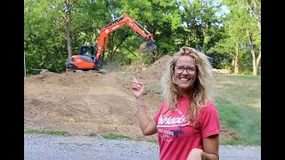 #861 Stripping Top Soil with Ease, Kubota KX-080 Excavator on Hobby Garage Build Site