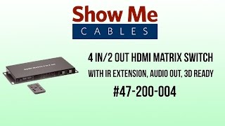 4 in 2 out hdmi matrix switch with ir extension audio out 3d ready
