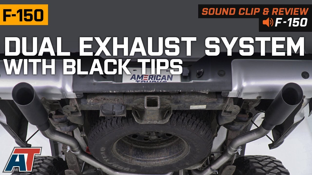 2009 2010 5 4l v8 f150 dual exhaust system with black tips side rear exit sound clip review