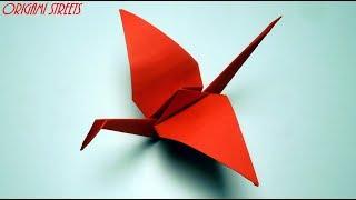 Как сделать журавлика из бумаги. Оригами журавлик из бумаги