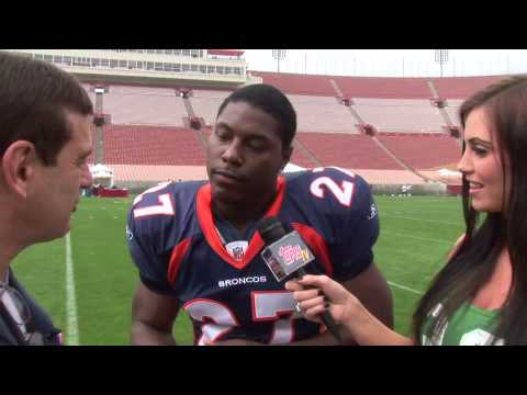 Knowshon Moreno  interview with ToppsTV at the NFL Rookie Shoot