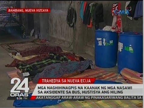 Mga naghihinagpis na kaanak ng mga nasawi sa aksidente sa bus sa Carranglan, hustisya ang hiling