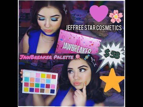 Jeffree Star JawBreaker Eyeshadow Palette and Liquid Lipsticks Talk through tutorial ~ thumbnail