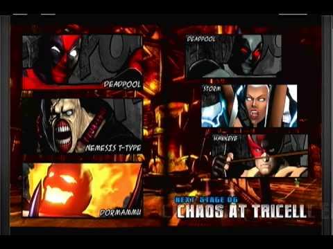 Ultimate Marvel vs. Capcom 3: Arcade Mode w/ Deadpool, Nemesis & Dormammu  