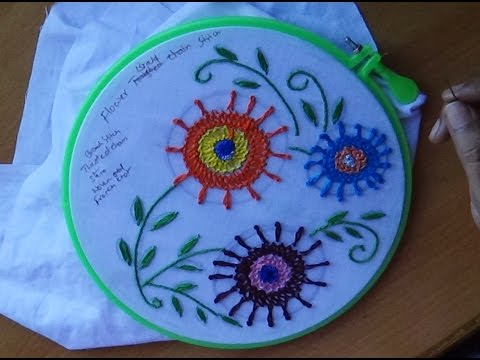 Hand Embroidery Designs # 108 - Braid stitch Design