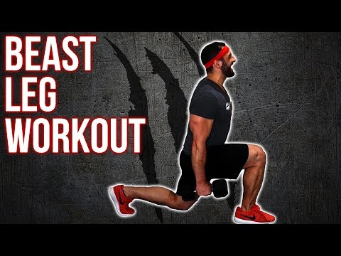 Beast Home Dumbbell Leg Workout (Build Leg Muscle/ Mass With This Workout)