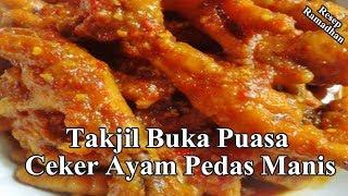 Takjil Buka Puasa Praktis Ceker Ayam Pedas Manis