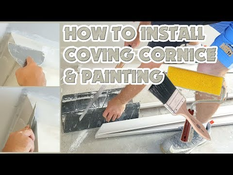 Drywall Plastering & Painting DIY Installing Coving Cornice