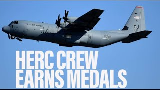 Commendations granted for C-130 crew that took fire over Afghanistan   Military Times Reports