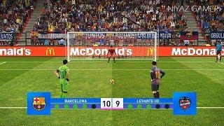 FC Barcelona vs Levante   Penalty Shootout   PES 2019 Gameplay PC
